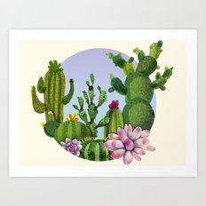 Cactus & Succulents Art Print