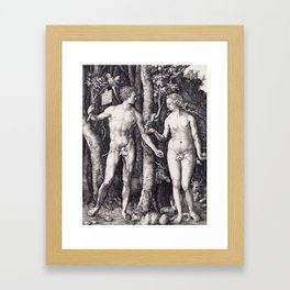 Adam and Eve by Albrecht Dürer Framed Art Print