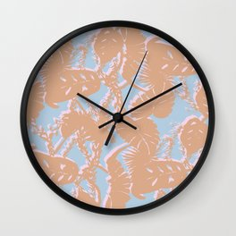 Contrast Palms Wall Clock