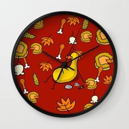 Thanksgiving Food Coma | Veronica Nagorny  Wall Clock