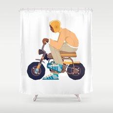 #2 HONDA Z50 Shower Curtain