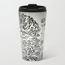 Buddha Blossoms Ink Doodle Travel Mug