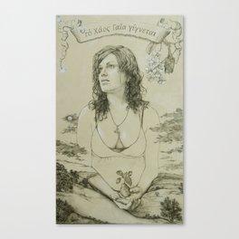 Out of Khaos Came Gaia Canvas Print