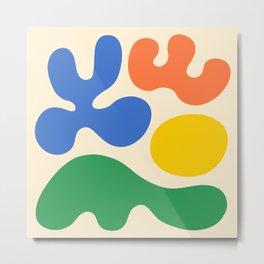 Mid Century Modern Organic Abstraction 340 Metal Print