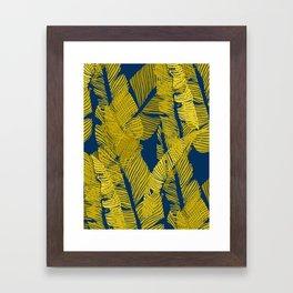 Carved Yellow&Blue Jungle #society6 #decor #buyart Framed Art Print