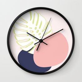 Spring Monstera #society6 #spring Wall Clock