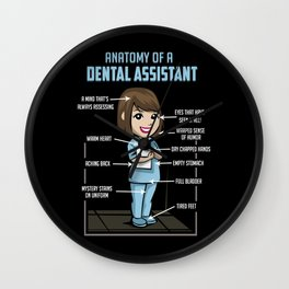 Anatomy Of A Dental Assistant Wall Clock