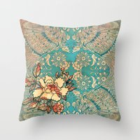hibiscus Throw Pillows featuring Hibiscus by Kriti