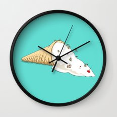 Ant Ski Wall Clock