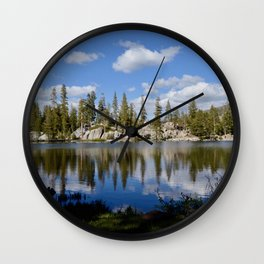 mosquito lake reflections Wall Clock