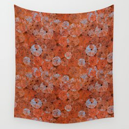Ocean life in orange and blue Wall Tapestry