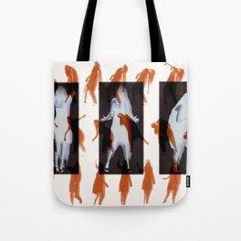 Orange dancer Tote Bag