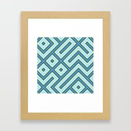 Square Truchets in MWY 01 Framed Art Print