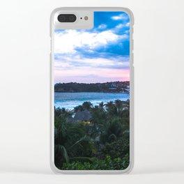 Atardece en zicatela 1 Clear iPhone Case
