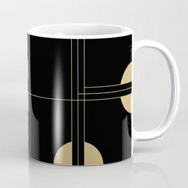 Art Deco / Black Cat Eye Pattern Coffee Mug