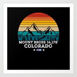 MOUNT BROSS Colorado Art Print