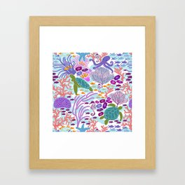 Rush Hour at the Reef - Ocean Life - Sea Life - Marine - beach  Framed Art Print