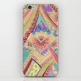 Rise and Shine - Rainbow Hued, Multi-Colored Doodle iPhone Skin