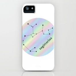 Holographic Sagittarius Constellation iPhone Case