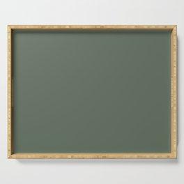 TERRARIUM dark green solid color Serving Tray