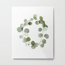 Eucalyptus Circle Metal Print
