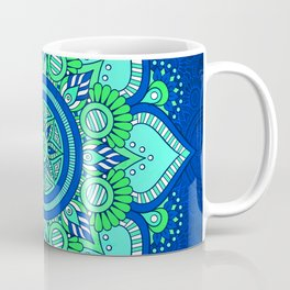 Blue Flower Mandala Coffee Mug