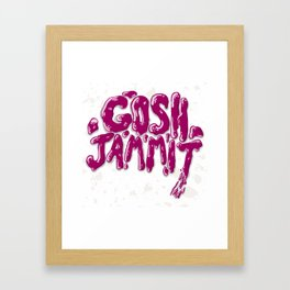 Gosh Jammit Framed Art Print