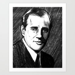 "Portrait of Benjamin ""Bugsy"" Siegel (3) Art Print"