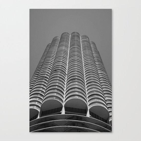 Marina City Tower Photo, Chicago, Architecture Canvas Print