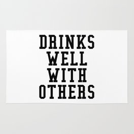 Drinks Well With Others Rug