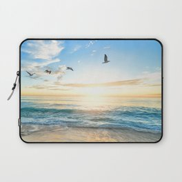 Blue Sky with Birds Laptop Sleeve