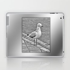Silver Gull standing guard Laptop & iPad Skin