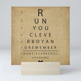 Run You Clever Boy - Doctor Who Inspired Vintage Eye Chart Mini Art Print