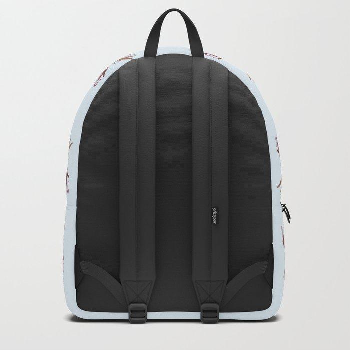 Christmas Angels light blue Backpack
