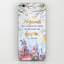 Hogwarts will always iPhone Skin