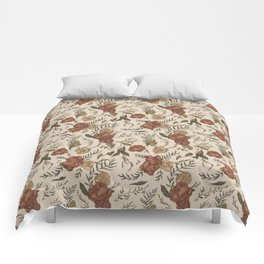 Antique Floral Pattern Comforters