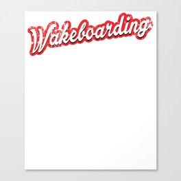wakeboarding - vintage & distressed Canvas Print