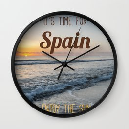 Time for spain Wall Clock