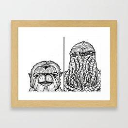 B&W Weirdos 27 Framed Art Print