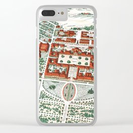 STANFORD CALIFORNIA University map Clear iPhone Case