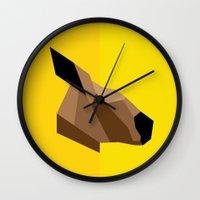 kangaroo Wall Clocks featuring Kangaroo by BMaw