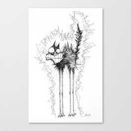 Electrocuted Cat by Carine-M Canvas Print