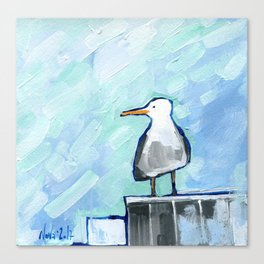 Skipper Seagull Canvas Print