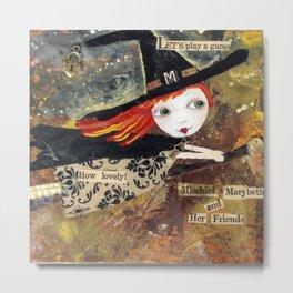 "Mixed Media - Littlest Witch ""MISCHIEF"" Metal Print"