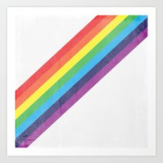 Washed Out Rainbow Art Print