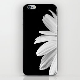 Half Daisy in Black and White iPhone Skin