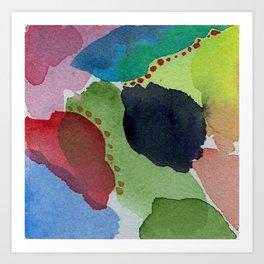 Watercolor Abstract Mini Series # 11 Art Print