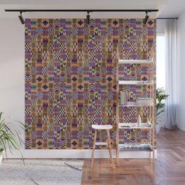 Kente Cloth // Anzac Yellow & Persian Blue Wall Mural
