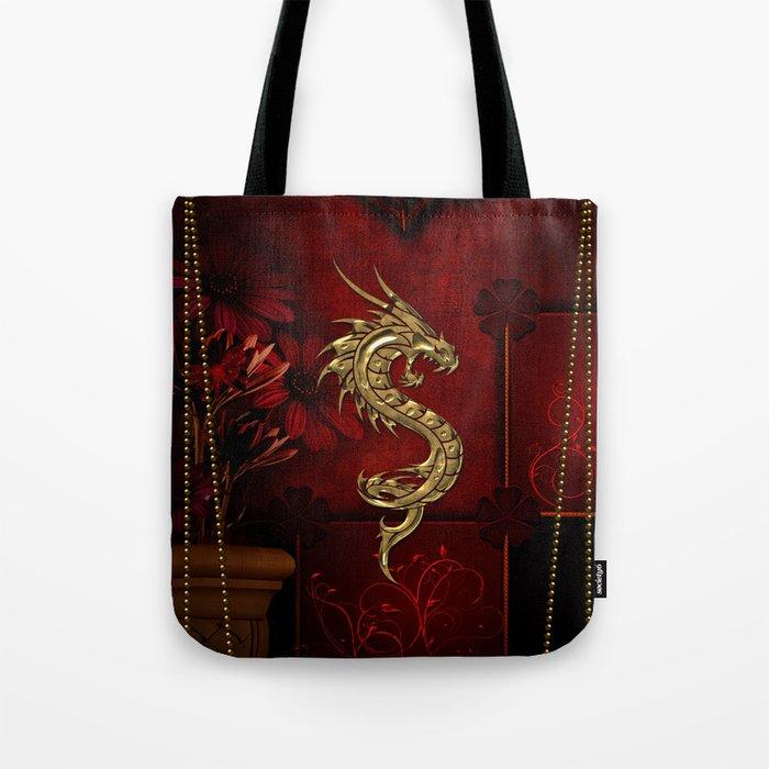 Wonderful golden chinese dragon Tote Bag