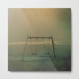 Forgotten swings Metal Print